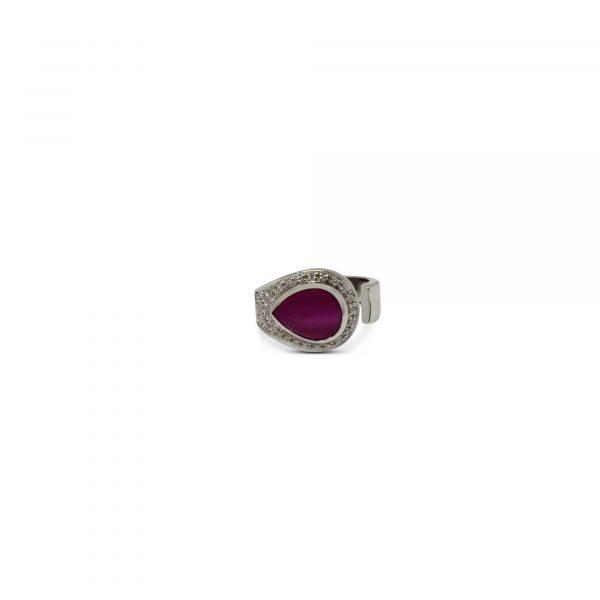 Cristiana Mariani Gioielli - Gioiello 7 - Anello con rubino cabochon di ct.3,60 e diamanti G Vs ct.0,17